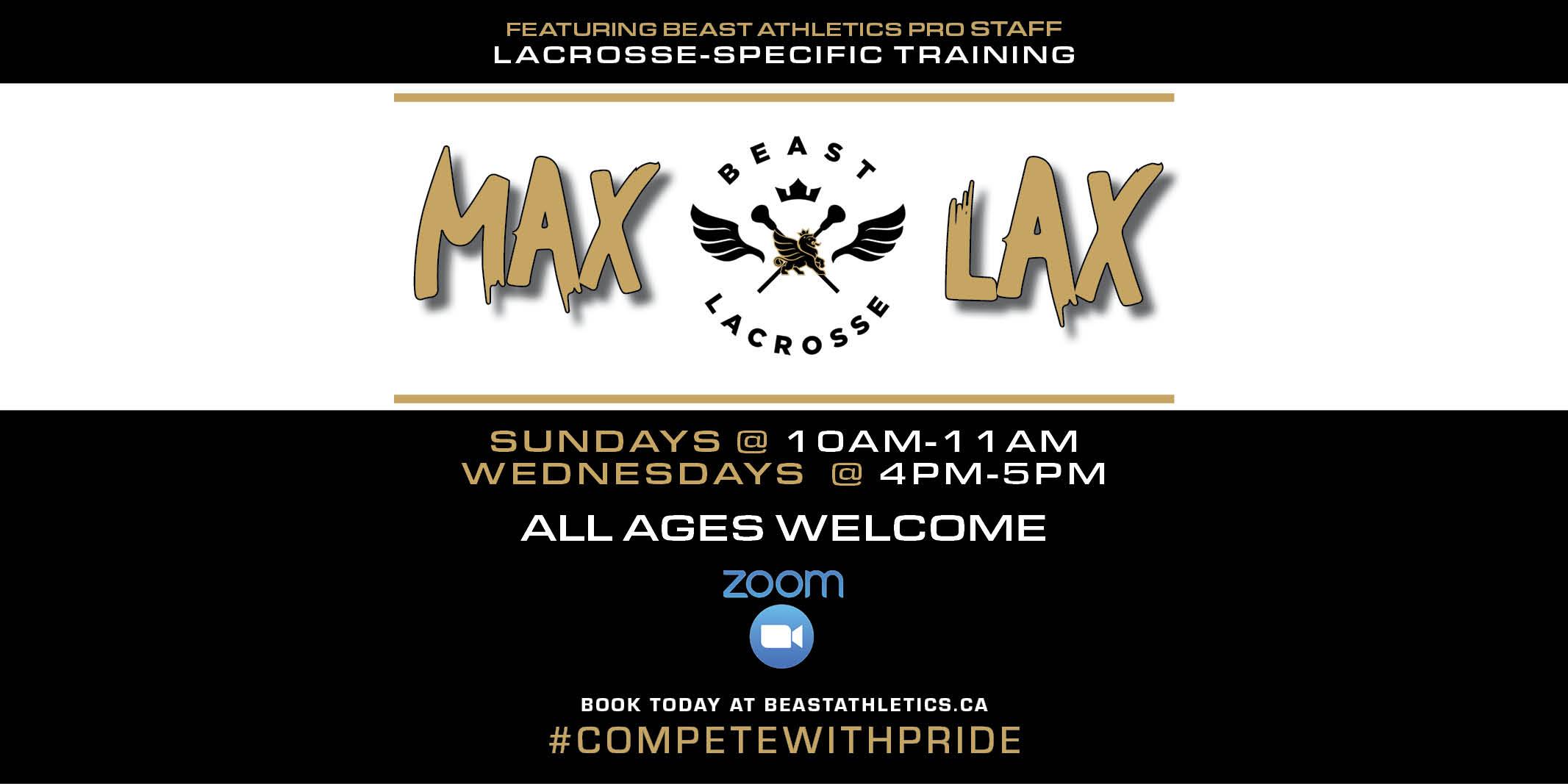 BEAST MAX LAX Lacrosse Training Sessions